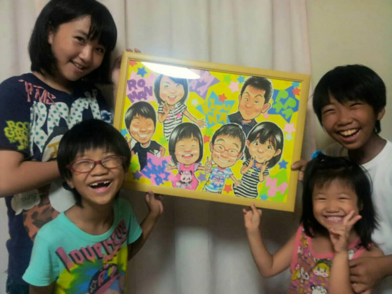 家族似顔絵